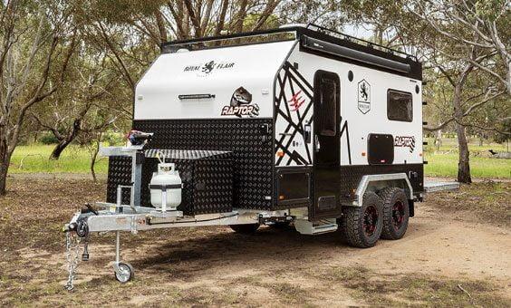 Triple bunk caravan